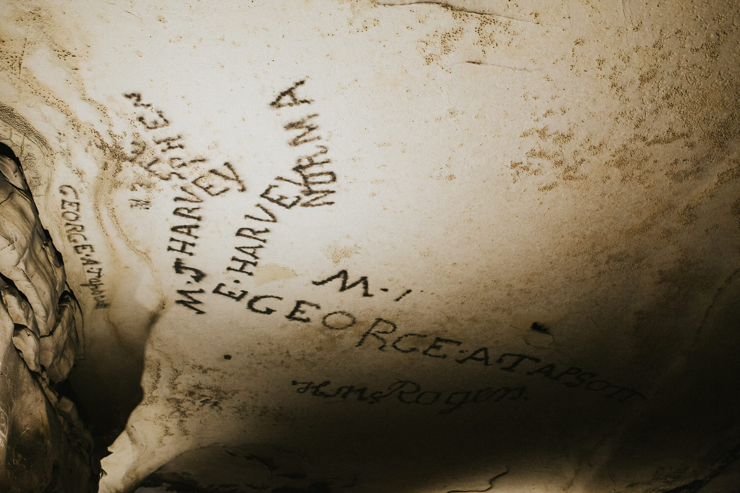 Historic Signatures, Gothic Avenue, Mammoth Cave National Park.
