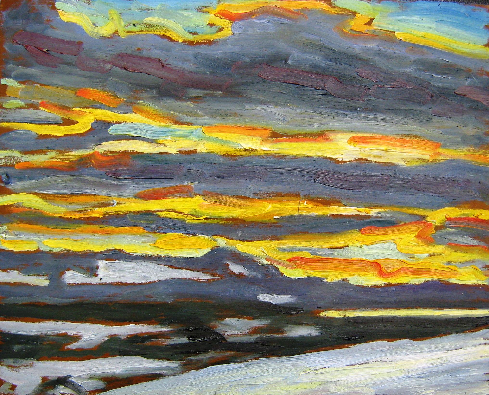 Sunset, Ft. St. James, 2013