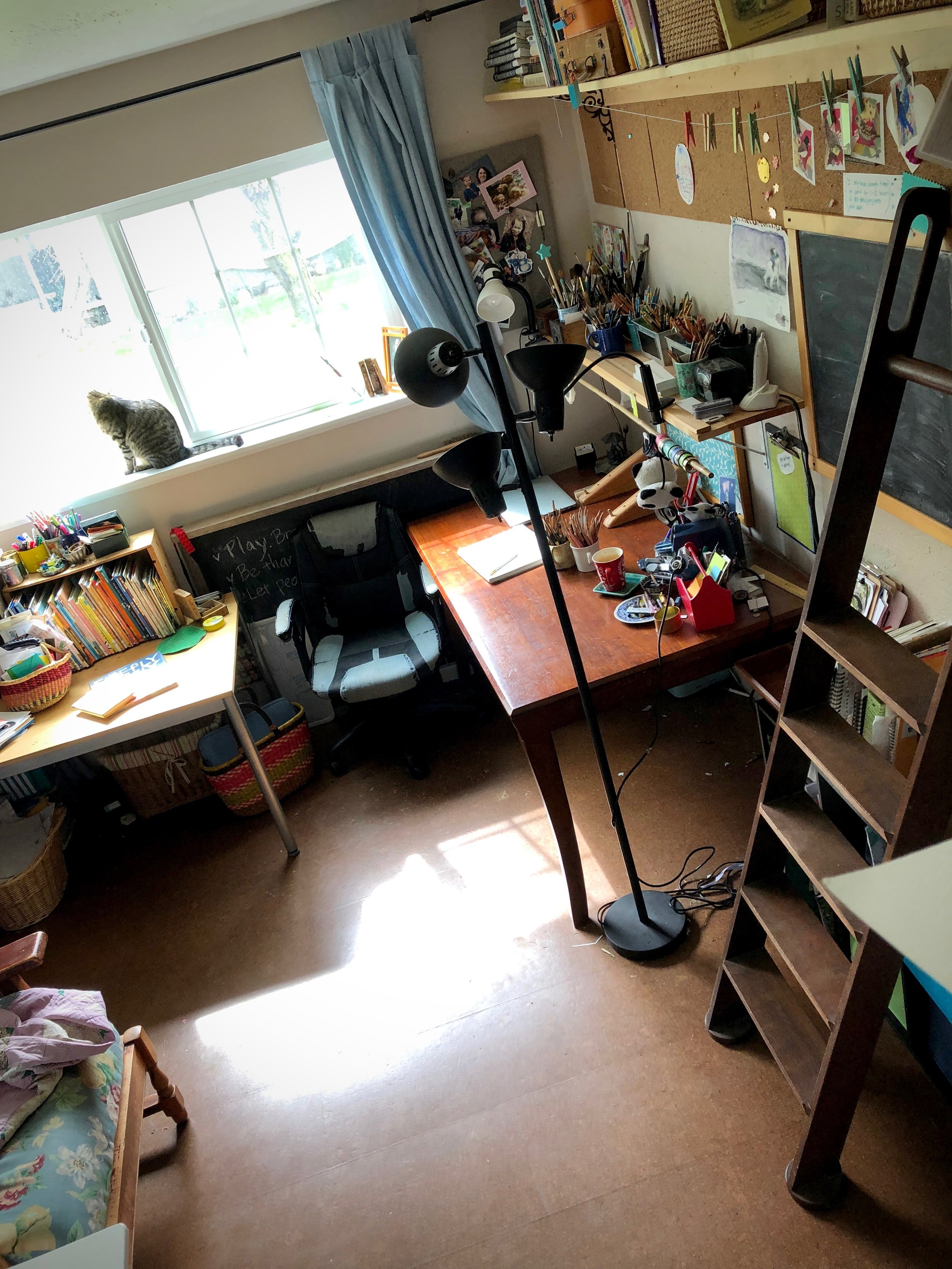 studio tour - photos and chat about workspace, habits, goal setting, & creative ways to grow