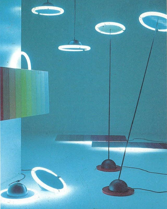 Lighting advertisement 'Saturno et tramonto', 1984 @obsessedbyneon
