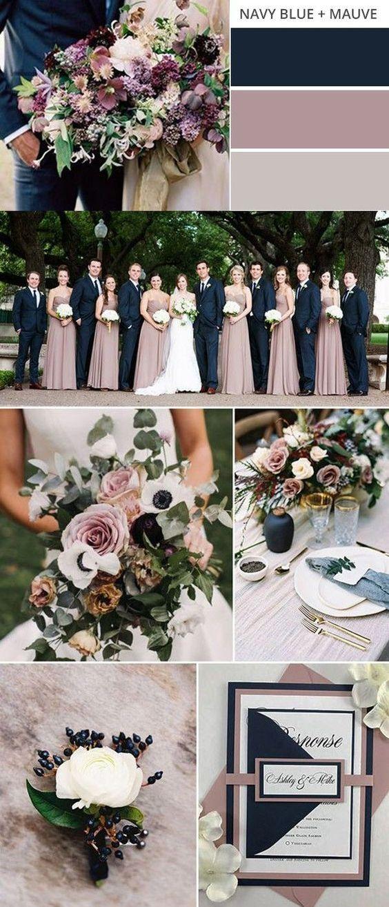 Mauve & Navy Wedding Color Palette