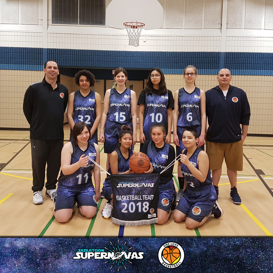 Supernovas U15 Girls team (2018)