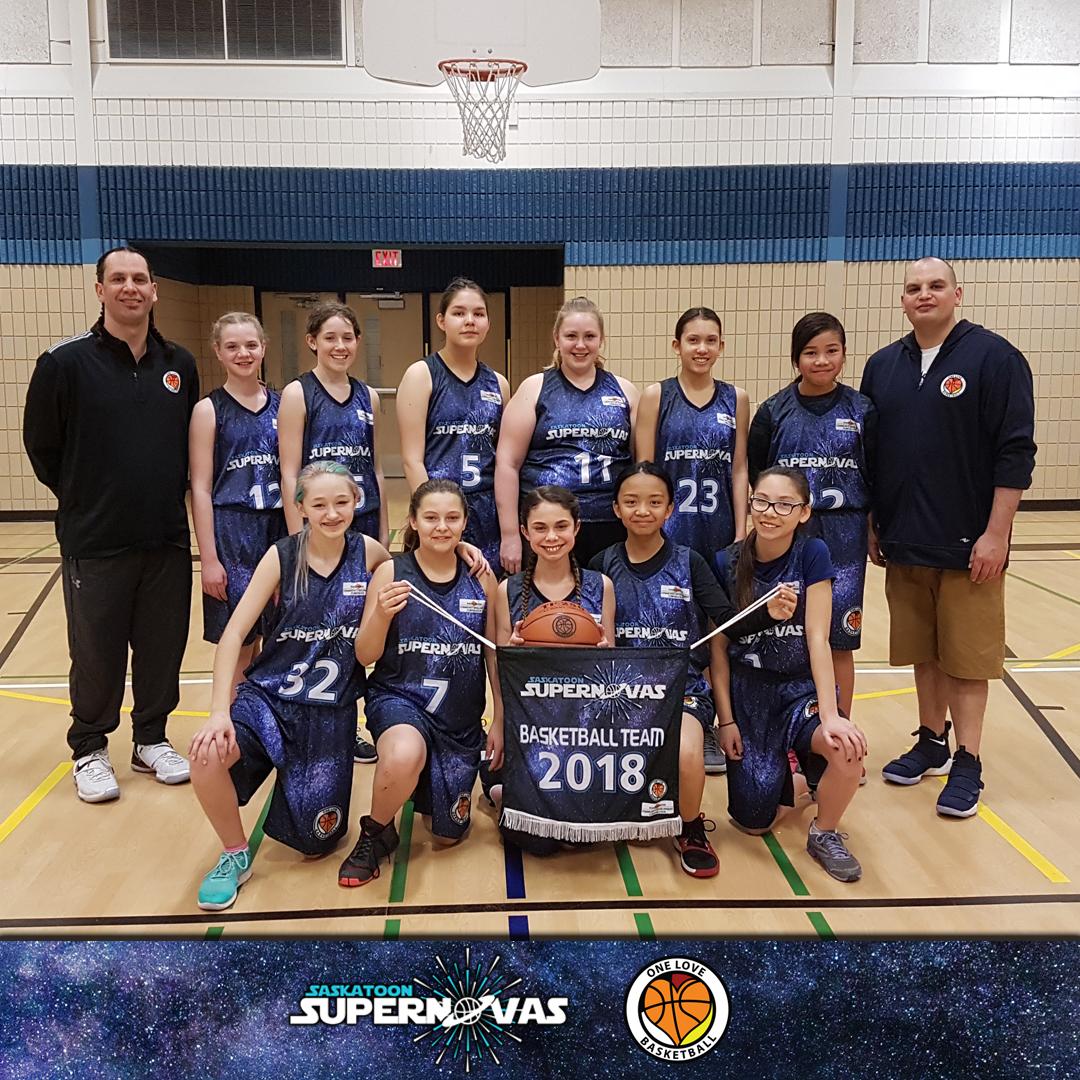 Supernovas U13 girls team (2018)