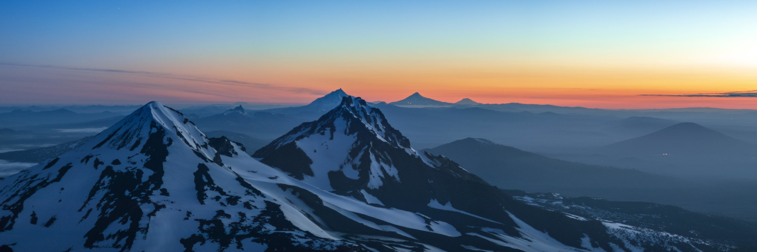 South Sister Summit at Sunrise. Photo by Daniel Fauss.