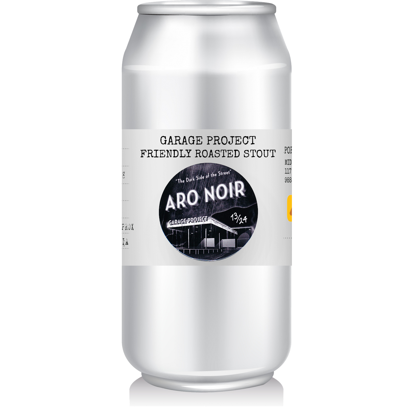 "Garage Project - Aro Noir, Friendly Roasted Stout   We're not quite sure what a ""friendly roasted"" stout is, but it's a stout none the less. Hailing from Garage Project on Aro St in NZ's Wellington, this American style stout is well balanced with English roasted barley and citrusy American hops.  From Garage Project themselves  ""wonderfully friendly stout that leaves your mouth feeling well hugged""  - ok, we'll let the friendly stout description stand."