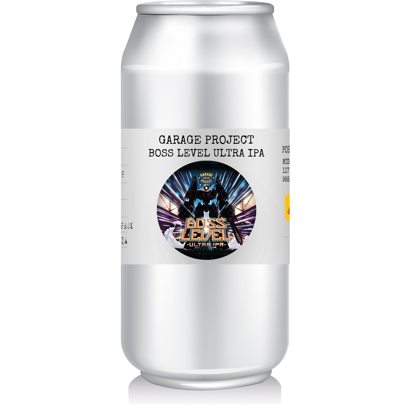 Garage Project - Ultra IPA   This is Ultra IPA - Boss Level. With 5 different US hop varieties, 100IBU and a massive malt grist to match - it's a can load of weaponised hop firepower!   Whilst canning Boss Level, our very own boss Ross taste tested and gave the boss tick of approval!