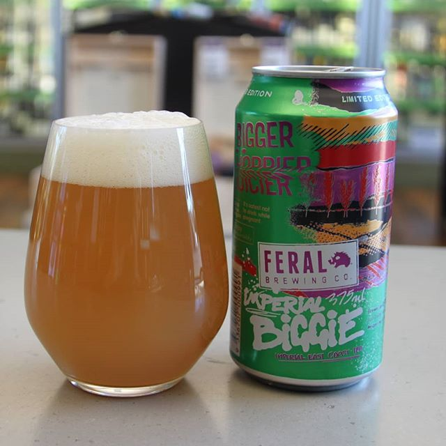 BIGGER than Biggie. Imperial Biggie juice from @feralbrewing has landed! Dank rich juicy haze for all! #hazyipa #biggiejuice #craftbeer #aussiecraftbeer #beersofinstagram #freshisbest #beerporn #neipa #faf