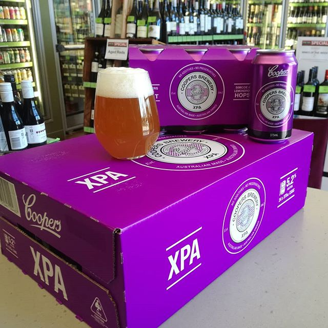@coopersbrewery is out proving why they deserve their status as Australia's leading independant brewer with this truly crafty offering. Clean balanced, bright hops with that classic Coopers yeast driven finish. #coopersxpa #xpa #aussiecraftbeer #craftbeer #beersofinstagram #prettyinpurple