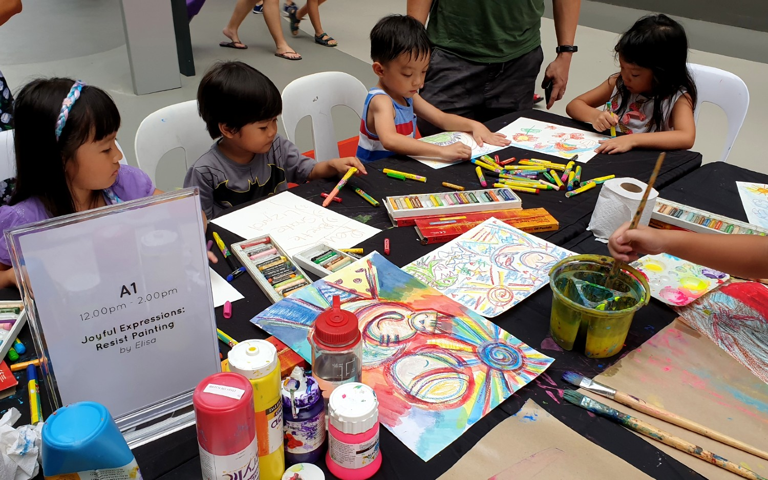 Community Outreach: Resist Painting Workshop with SAMH