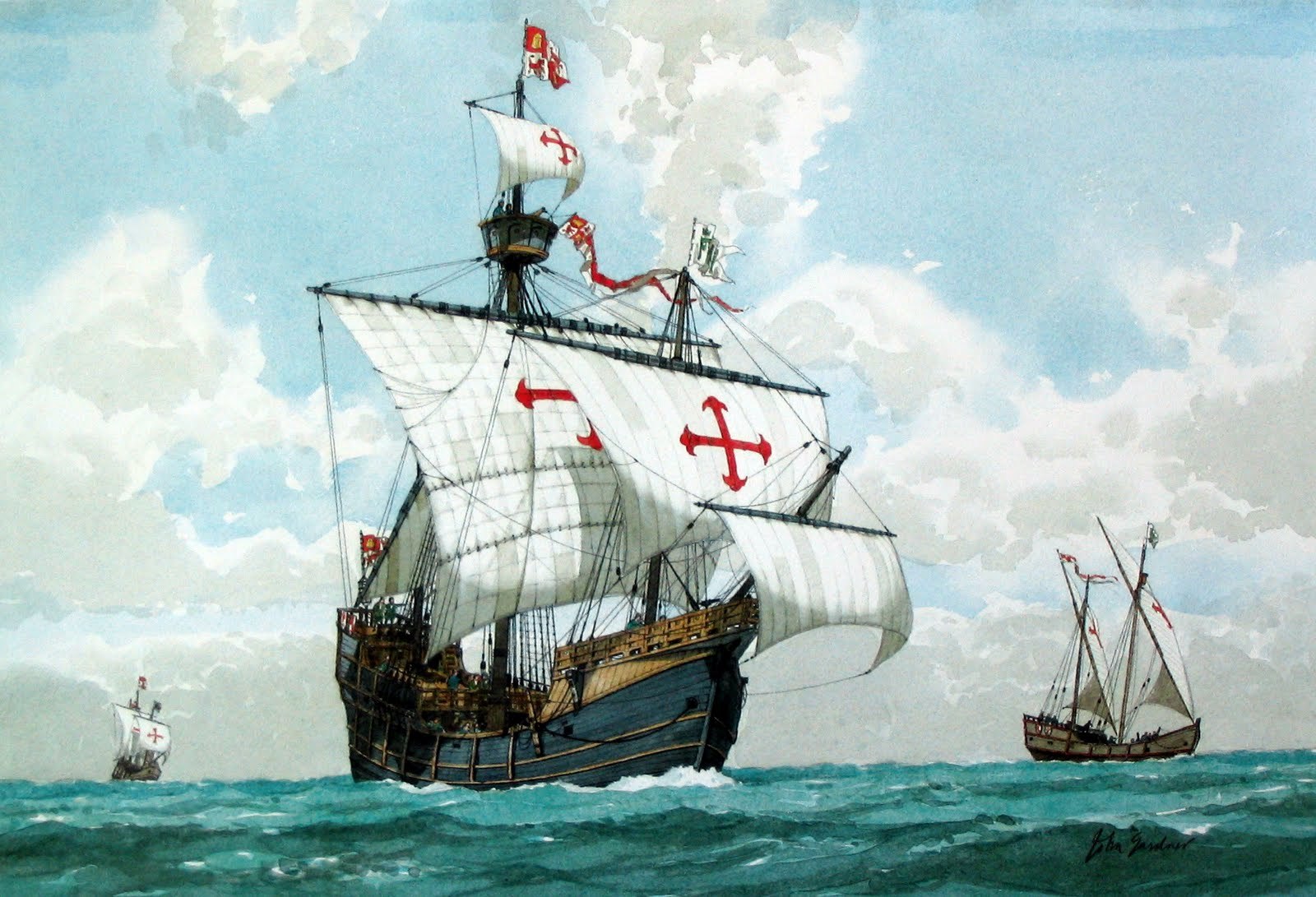 The Santa María, flagship of Christoper Columbus' expedition that discovered America.