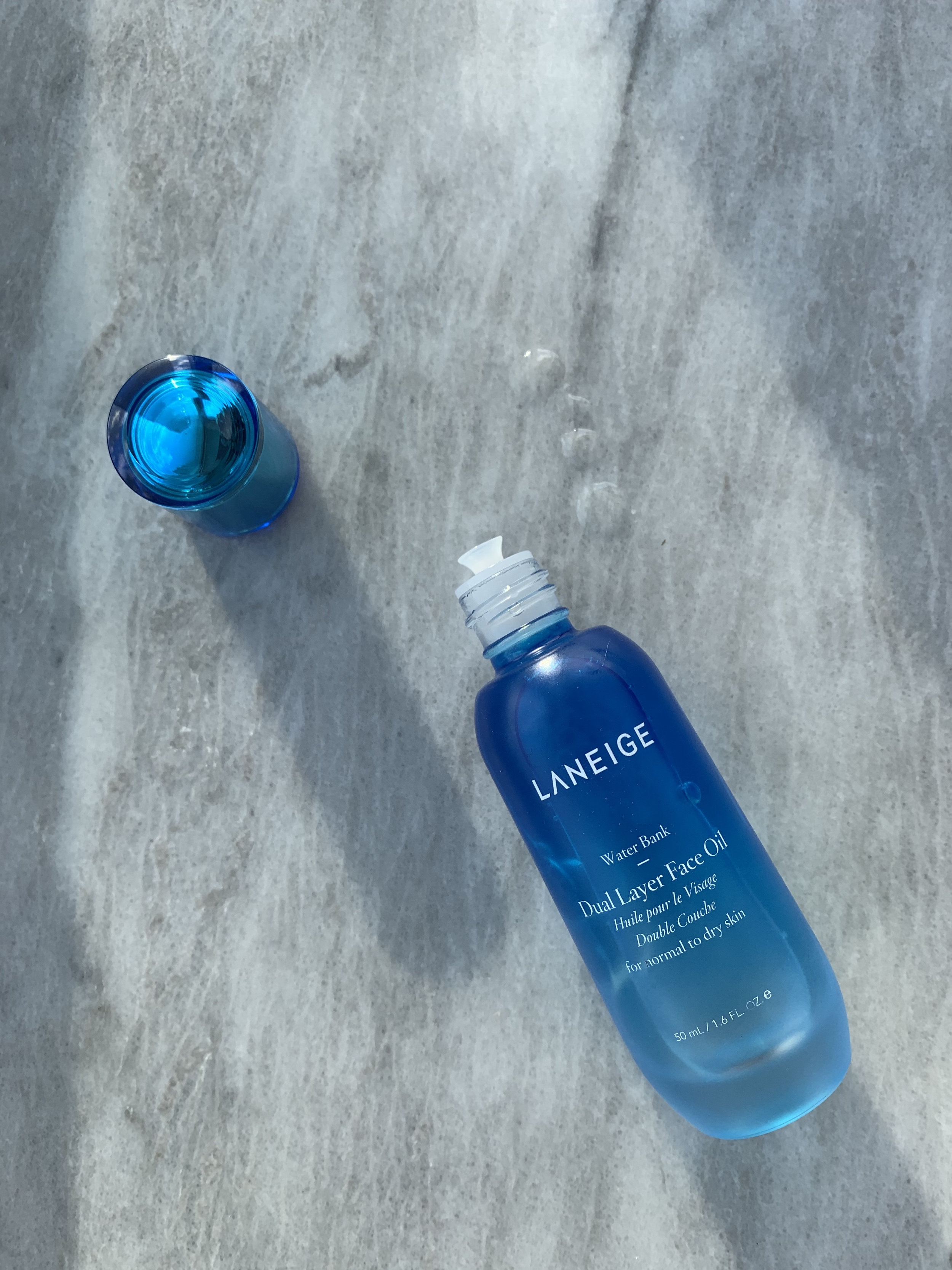 The Laneige Water Bank facial oil is so lightweight, it's ideal for oilier skin in the cold.