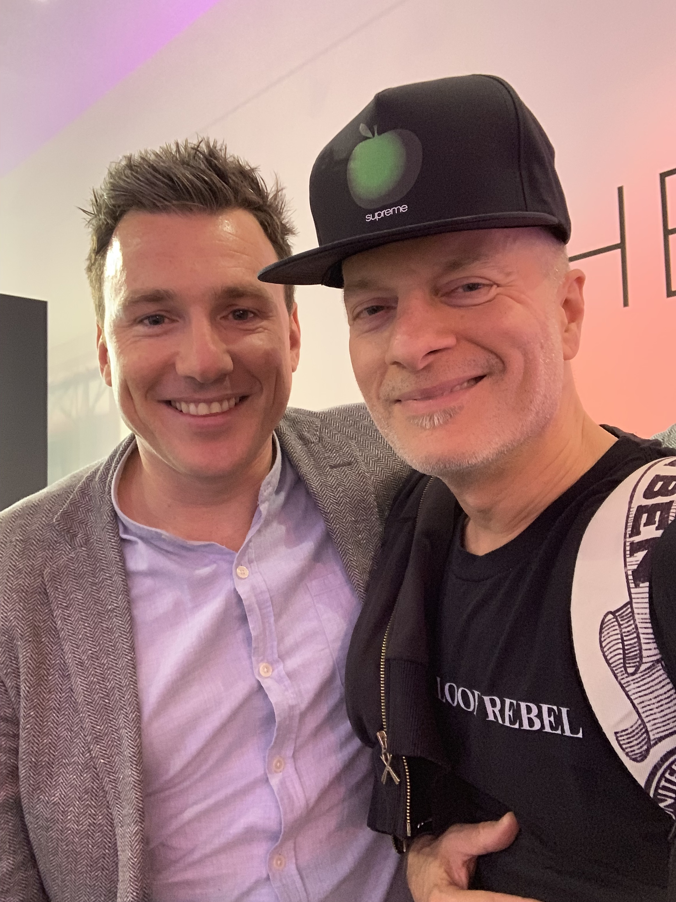 Inkey List co-founder Mark Curry and me at the brand's SOHO pop-up shop!