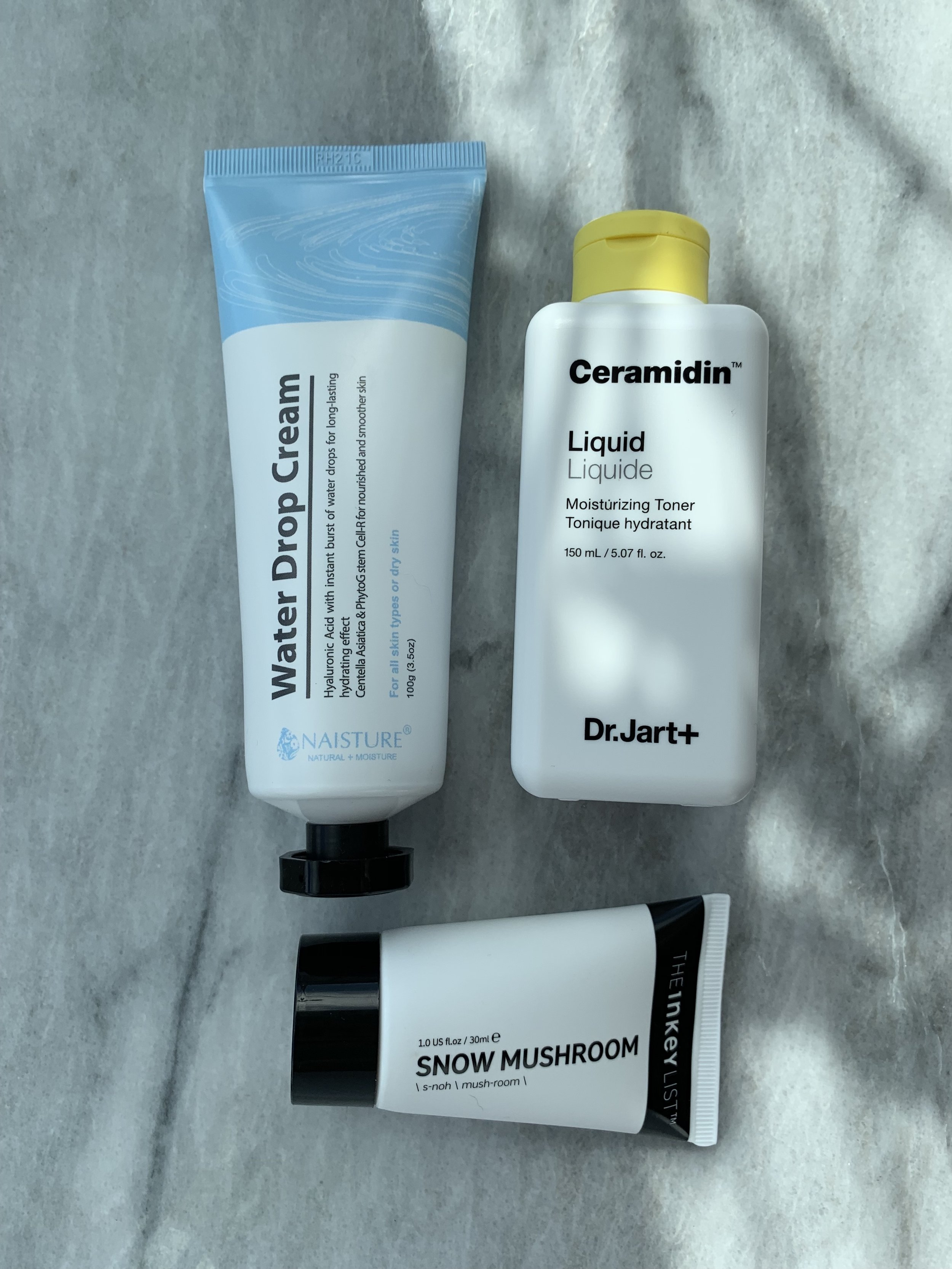 Three super lightweight moisturizers that I think are great for summer weather.