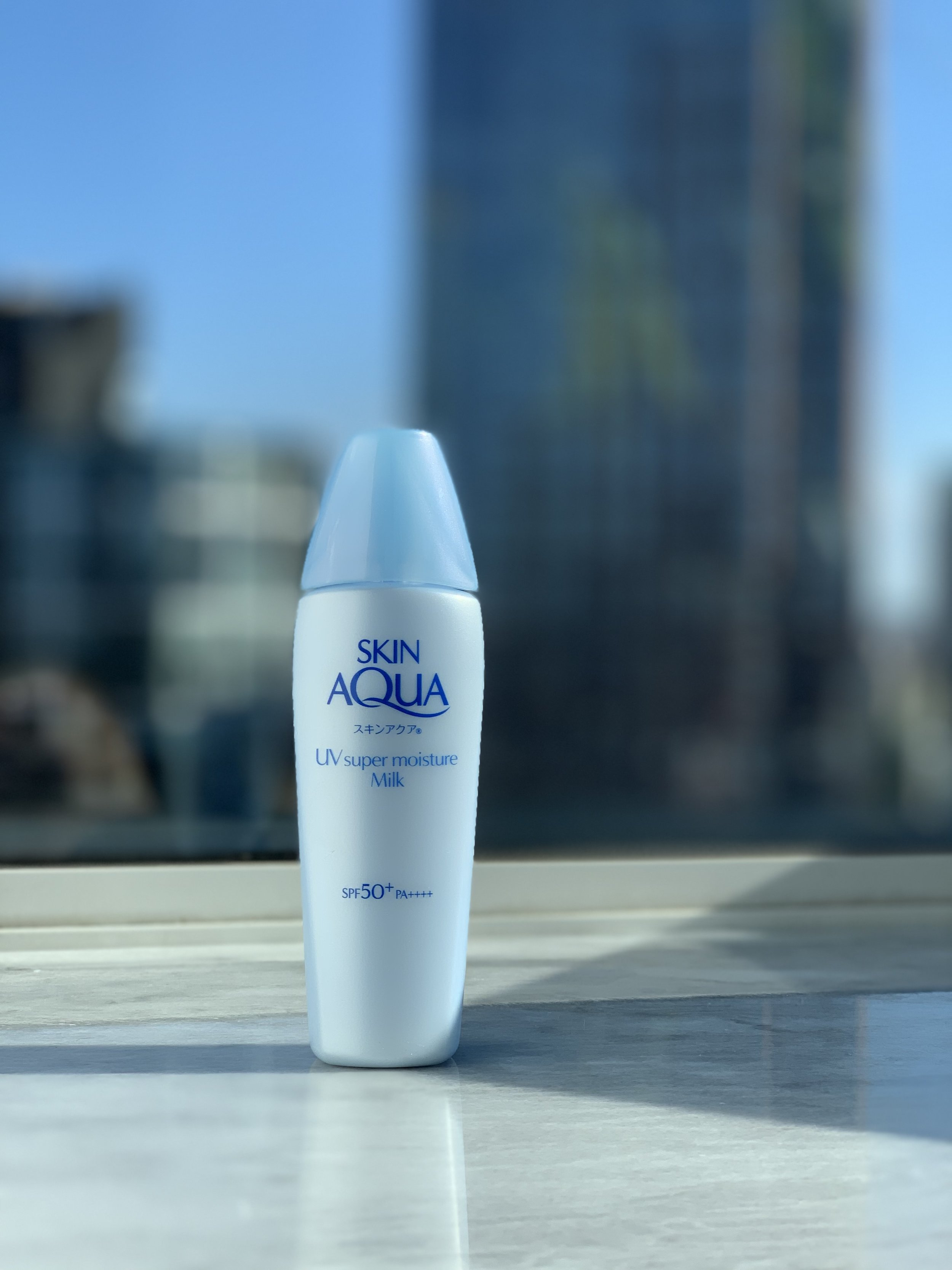 Full disclosure: The Skin Aqua Super Moisture Milk formula contains a combination of both a mineral and a chemical sunscreen filter.