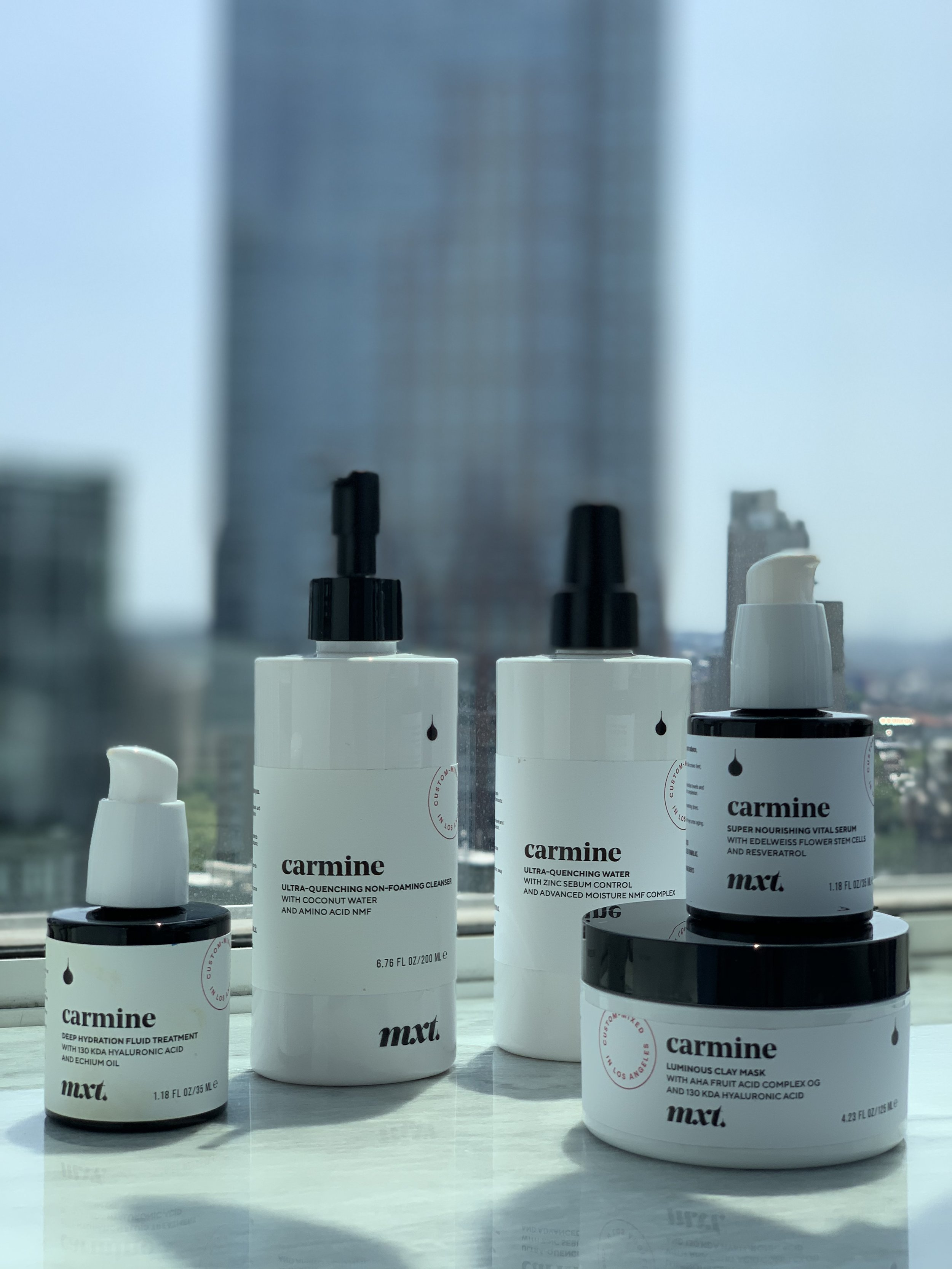 My full Mxt. x Carmine skincare line-up!