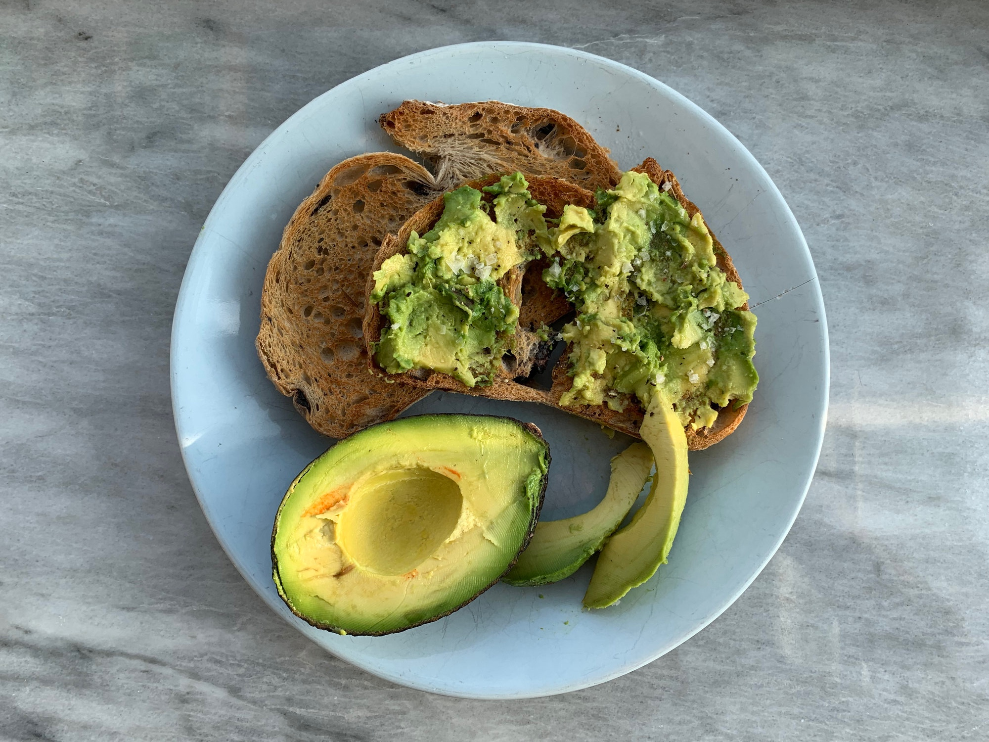 I love avocado on toast on a Saturday morning!