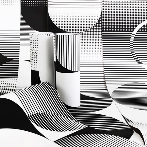 Mixing Digital Print and Screen Print Techniques to create striking artisan wallpapers...