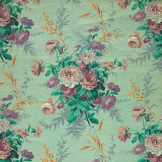 French Printed Fabric c.a. 1890