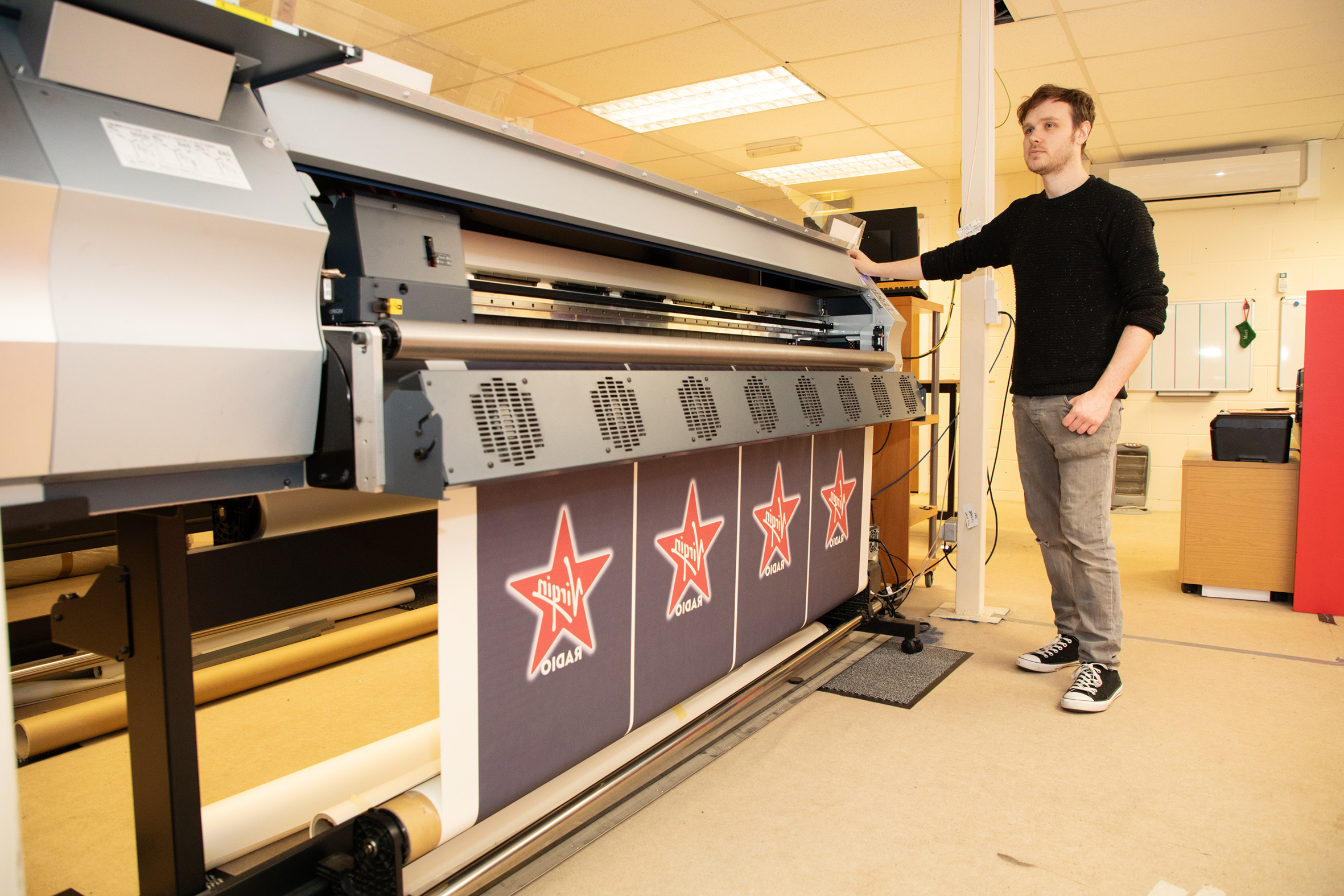 Dan, Production keeps thing running smoothly in the print room.