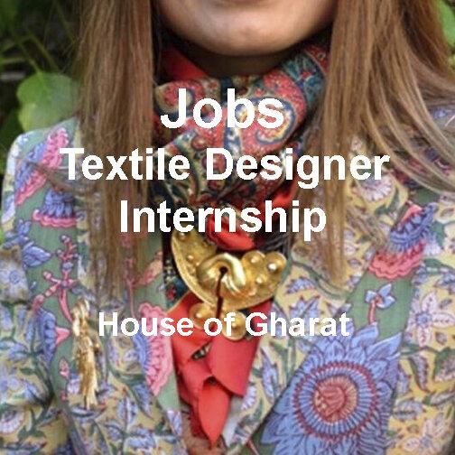 Jobs Textile Designer Internship House Of Gharats Texintel