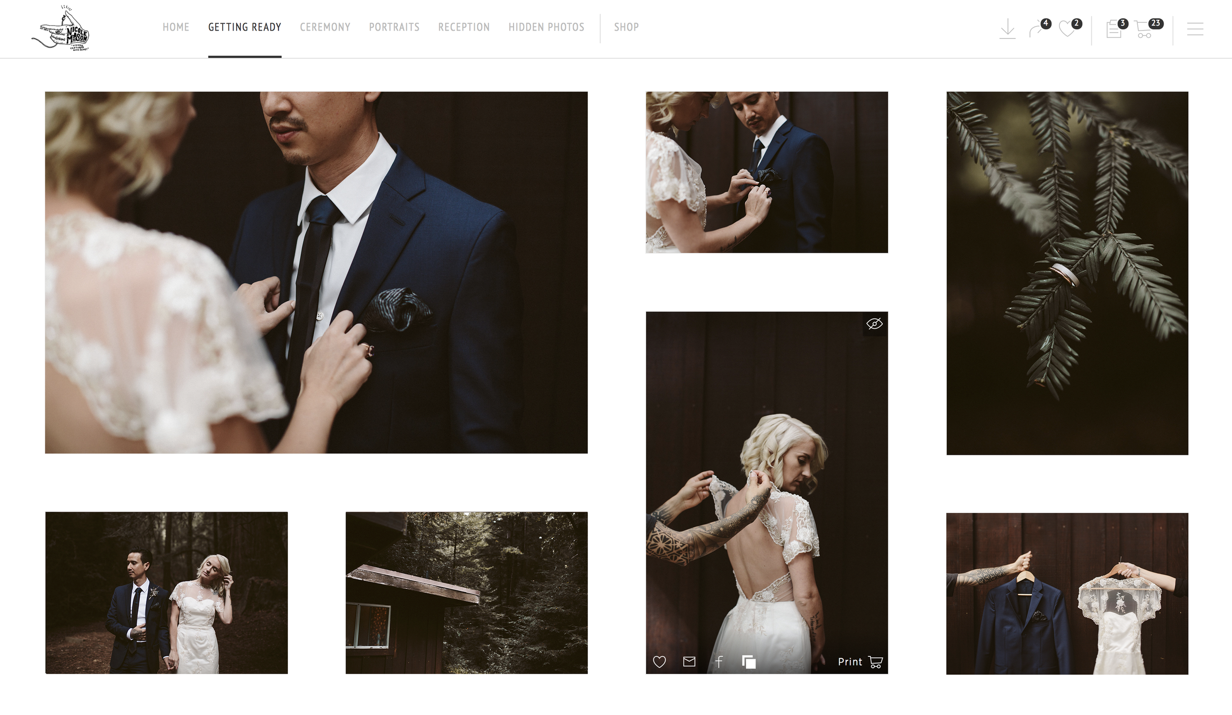 Absolutely breathtaking online galleries. Perfectly composed for both desktop and mobile.