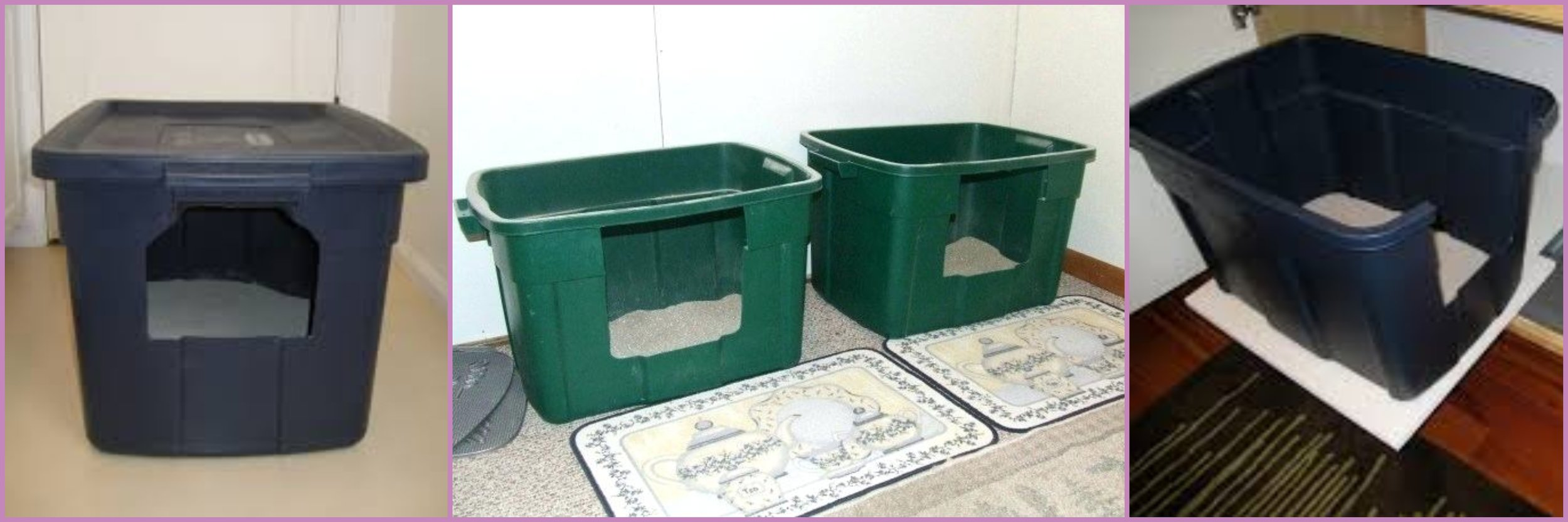 Home Crafted Litter Boxes