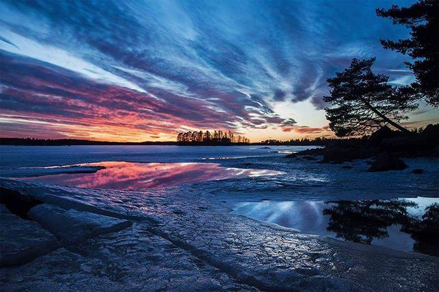Epic sunset. #wermland #värmland #hagfors #landskap #landscape