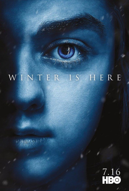 GAME OF THRONES  season 7  Maisie plays Arya Stark in this epic story. Nine noble families fight for control over the mythical lands of Westeros, while an ancient enemy returns after being dormant for thousands of years.    Click for more