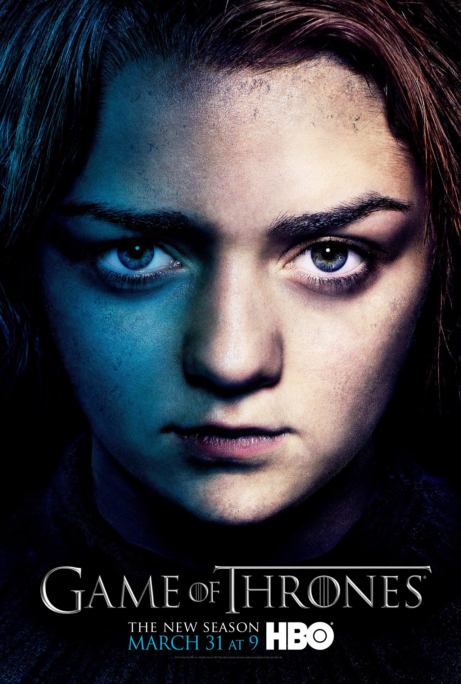 GAME OF THRONES  season 3  Maisie plays Arya Stark in this epic story. Nine noble families fight for control over the mythical lands of Westeros, while an ancient enemy returns after being dormant for thousands of years.    Click for more