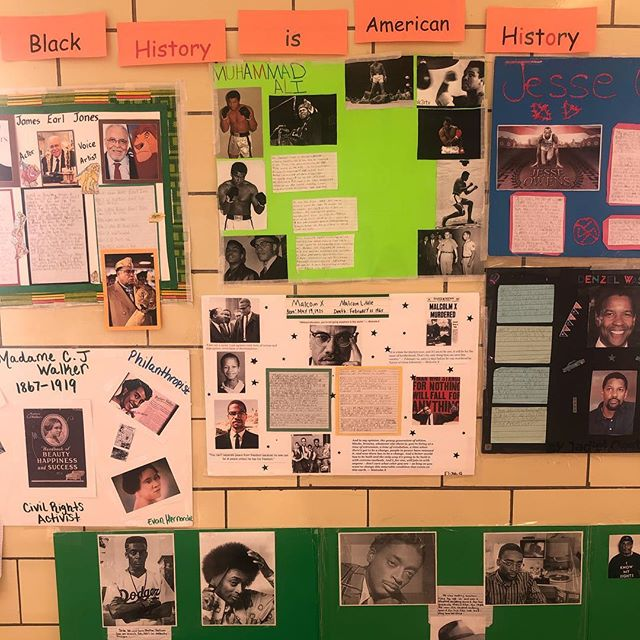 Our walls are alive with history. Black History. American History. From Jesse Owens to Barack Obama the history is rich and nurtures the present. . . . . #welovebccs #blackhistorymonth #blackhistory #americanhistory #d16 #bedstuyproud