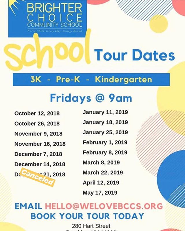 There's still space to join tomorrow's tour @ 9am. Last tour before the Prek application deadline. Email hello@welovebccs.org to RSVP . . . . #welovebccs #3k #prek #kindergarten #duallanguage #earlychildhood #bedstuy #bedstuyproud #d16