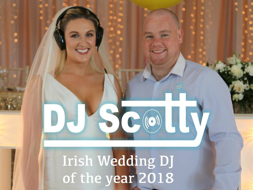 DJ Scotty - DJ Scotty Irelands top Wedding DJ, offering a premium service second to noneWith over 16 years experience, technical expertise and skills, I can guarantee you I will have your dance floor packed all night, As a professional DJ I will always discuss with the client beforehand music to suit your special day however my favourite style to play are throwbacks from the 80s 90's and 00's as well as current chart hits.I can provide an electric energy to your dancefloor like no other and with smooth seamless mixing your crowd won't want to leave the floor all night, all of my equipment is professional quality and well maintained and I always bring the right speakers for the right environmentI'm based in Donegal but regularly travel all over Ireland and Northern Ireland, in fact, this year (2018) I have won the award for best wedding DJ in the whole country!Also as of 2018, I am a proud member of the Irish wedding DJ association, an organisation set up to showcase Ireland's top wedding DJs