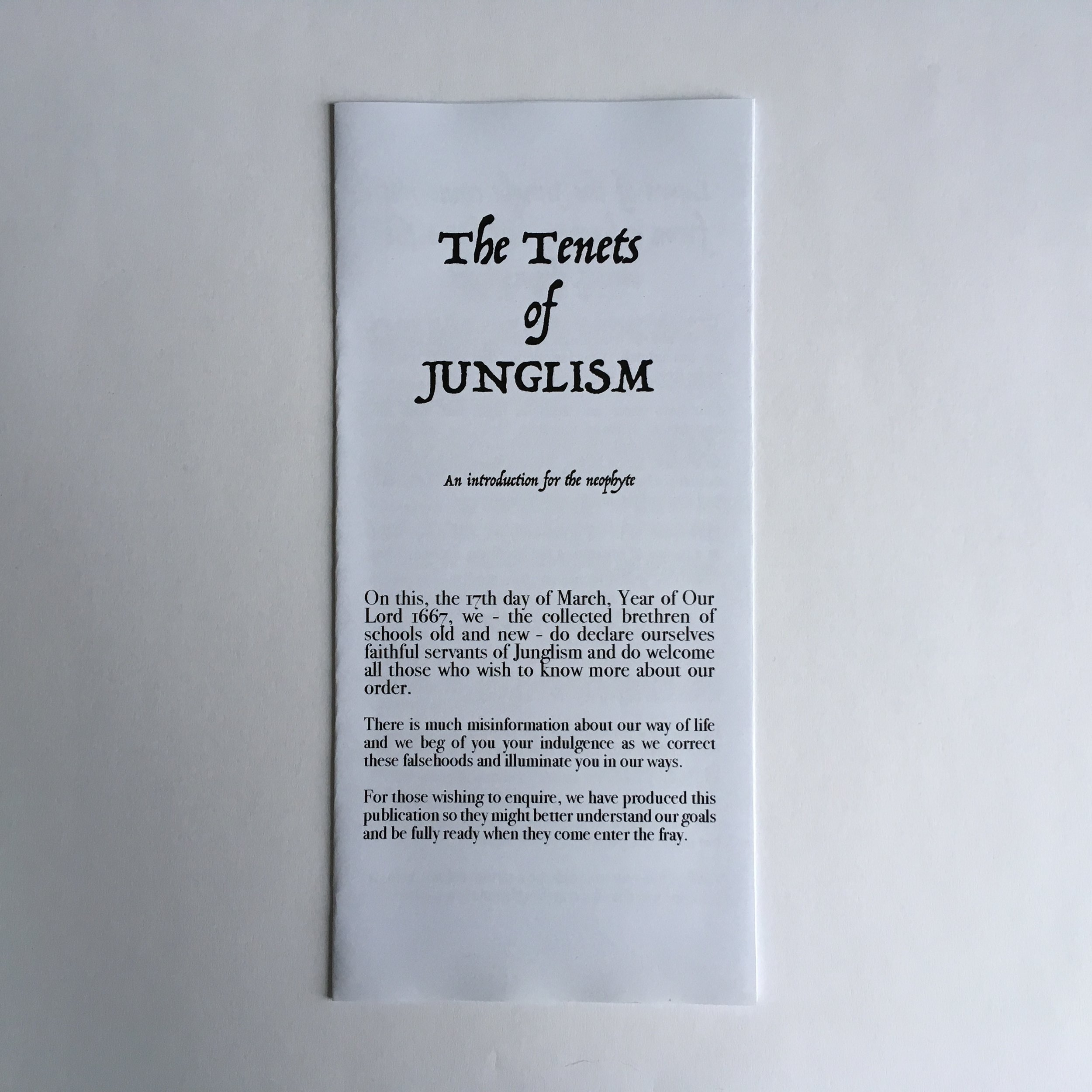 The Tenets of Junglism