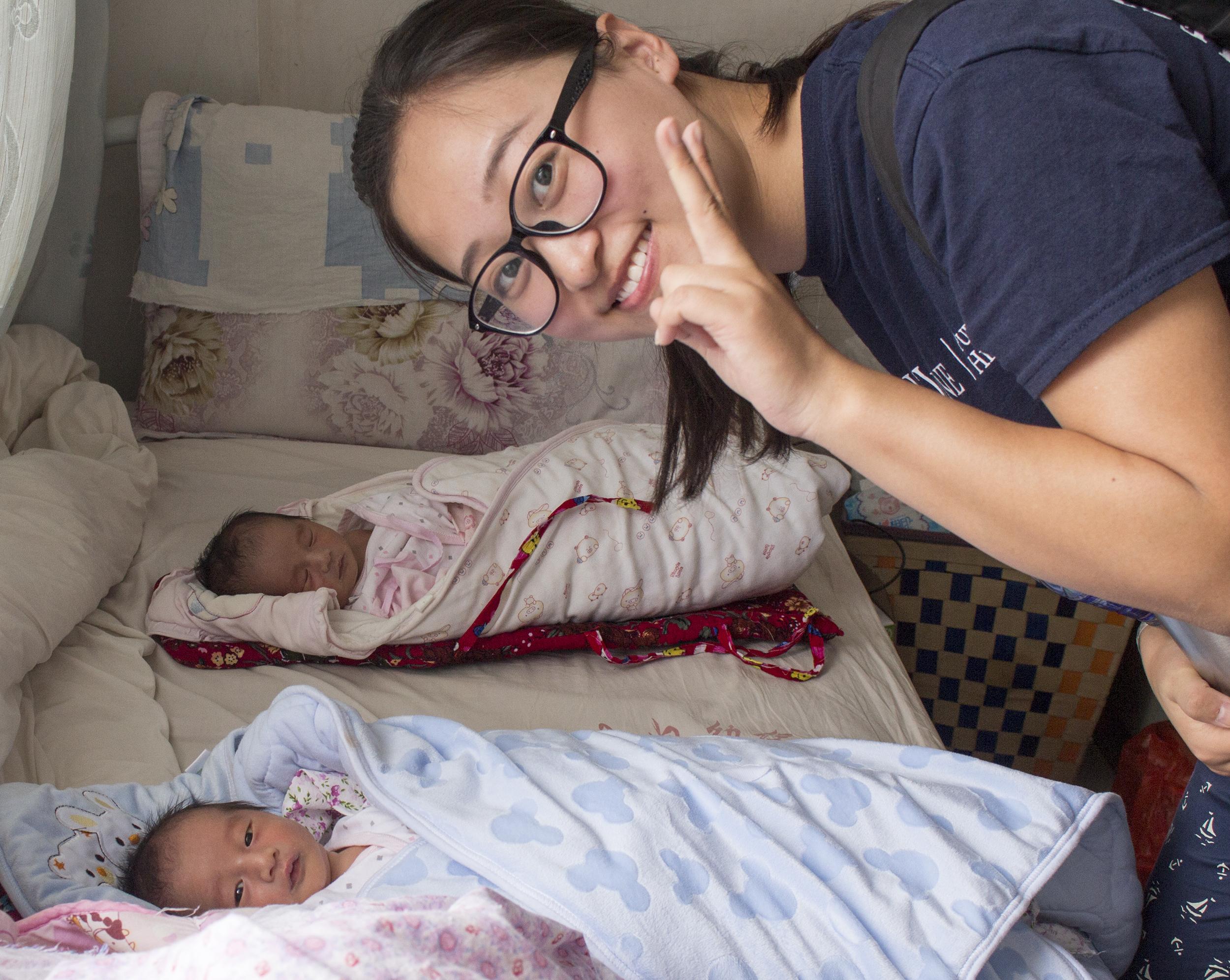 Fangqi Guo: Project Lead with two newborns in Nan Jian County