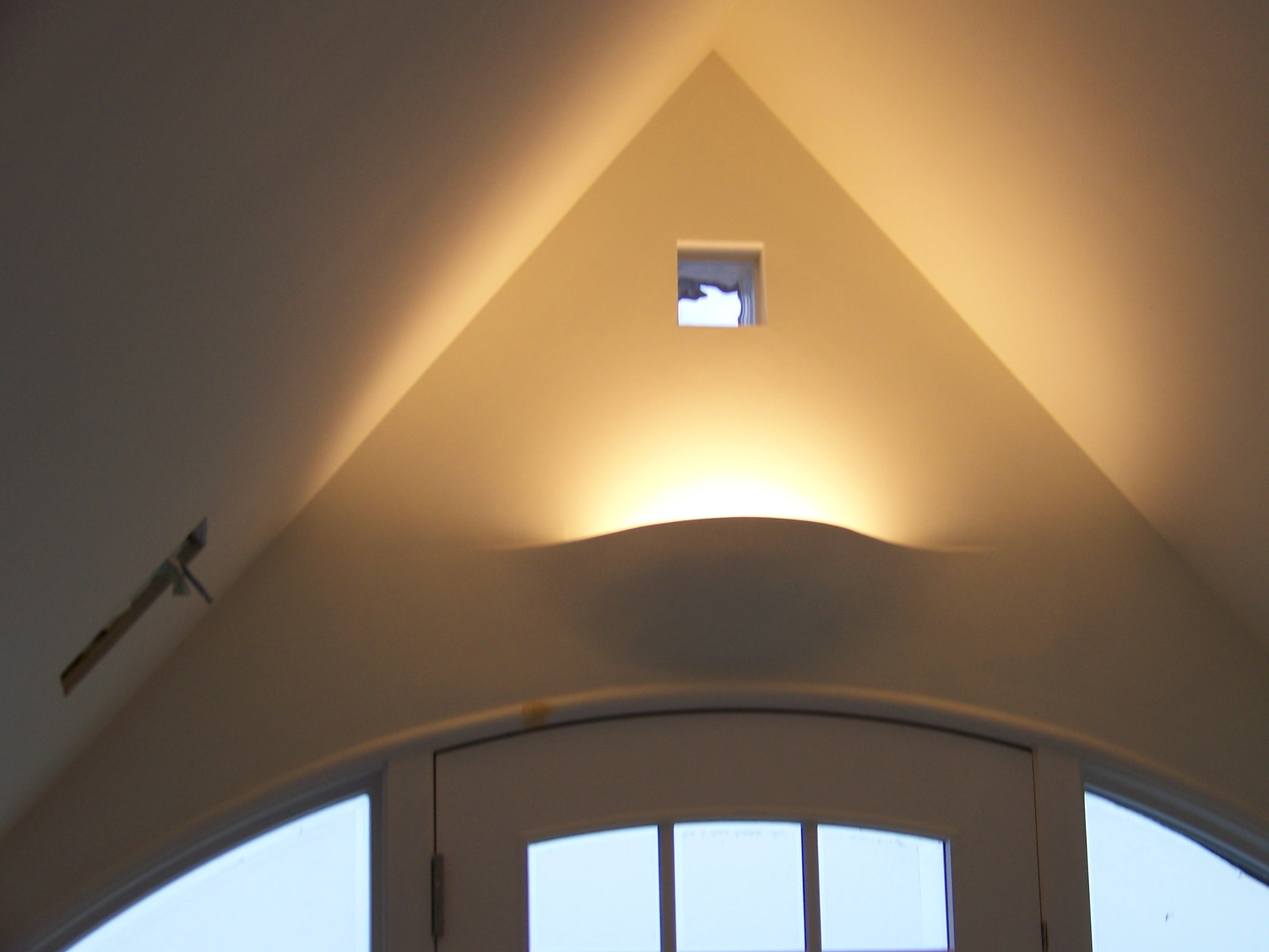 Plaster Finish on Light