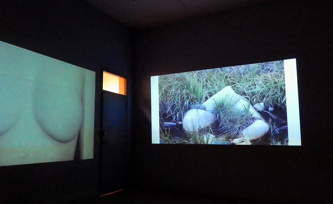 River Stories photograph projected at Arles