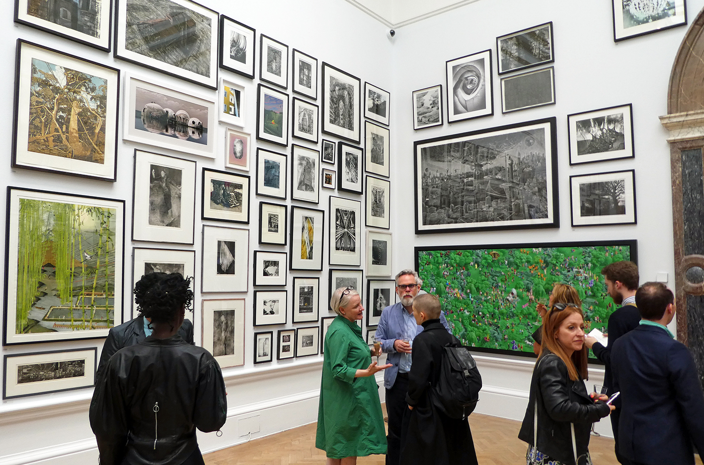 Royal Academy Room VII - my photograph, Shoreline top row