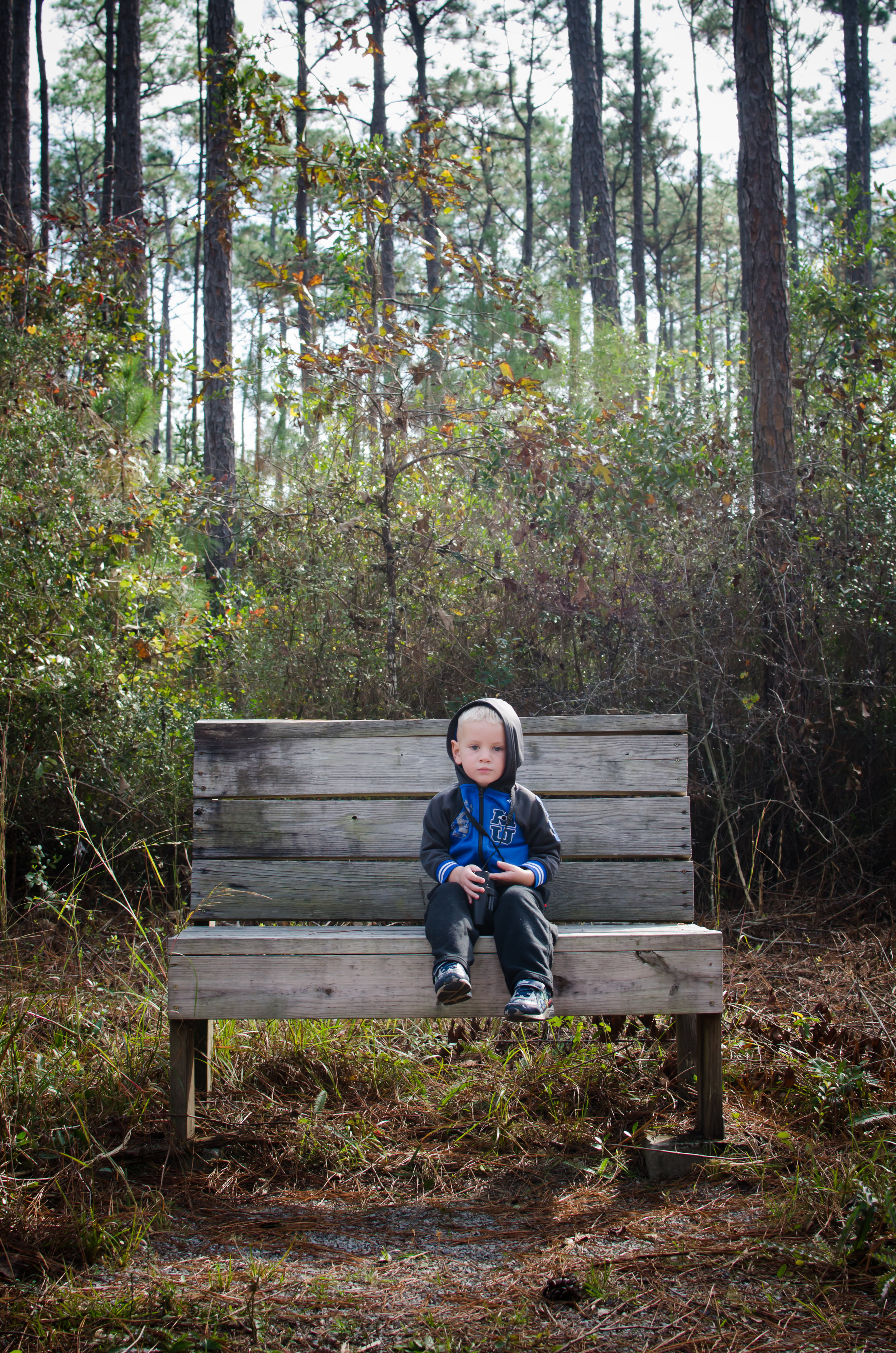 I took this photo on a short hike in Ocean Springs, Mississippi. It was a cool morning and I love this photo because of the light, composition, expression on Nates face and the memory of spending time together out in nature as a family.