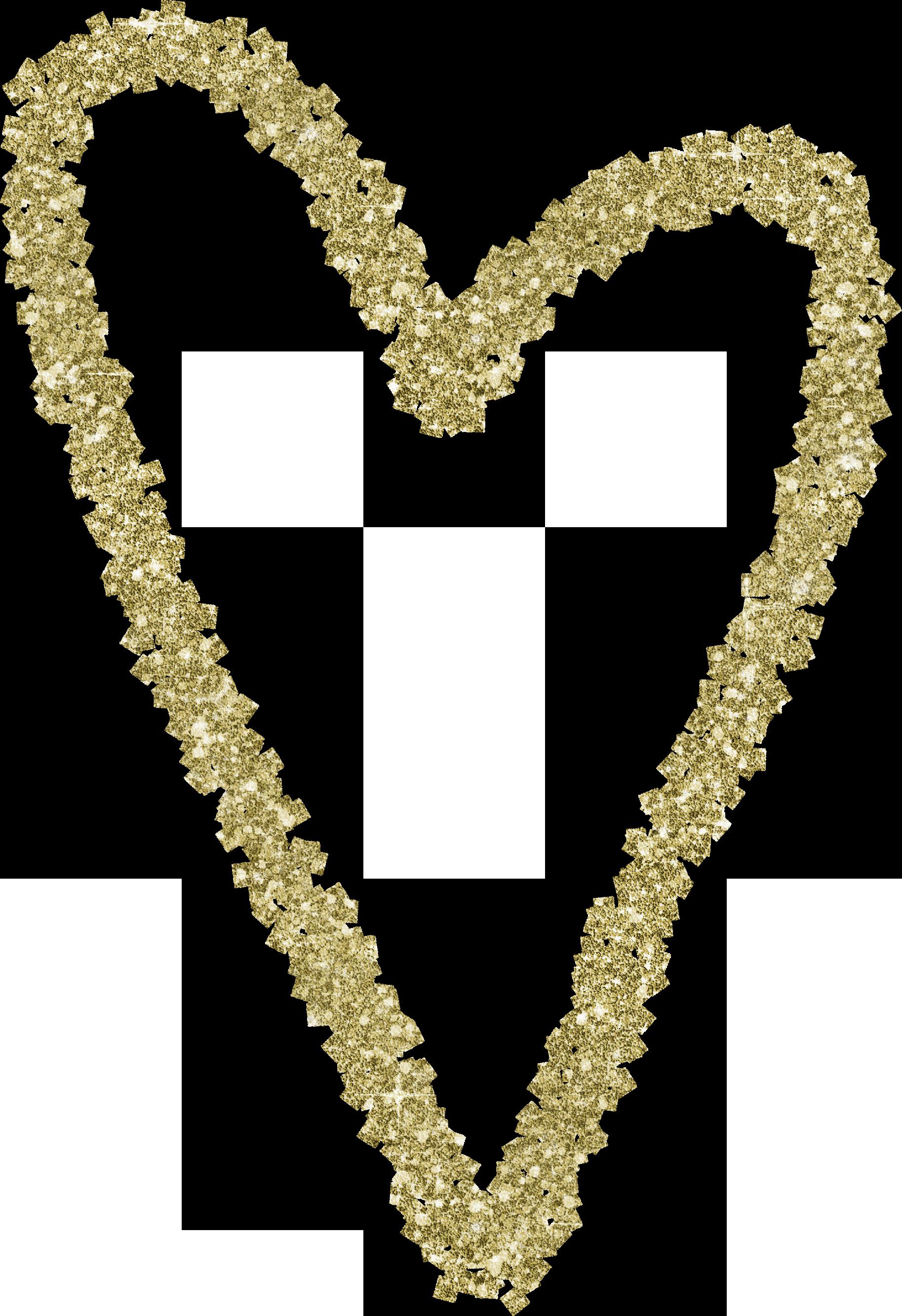Gold Glitter Heart 7.png