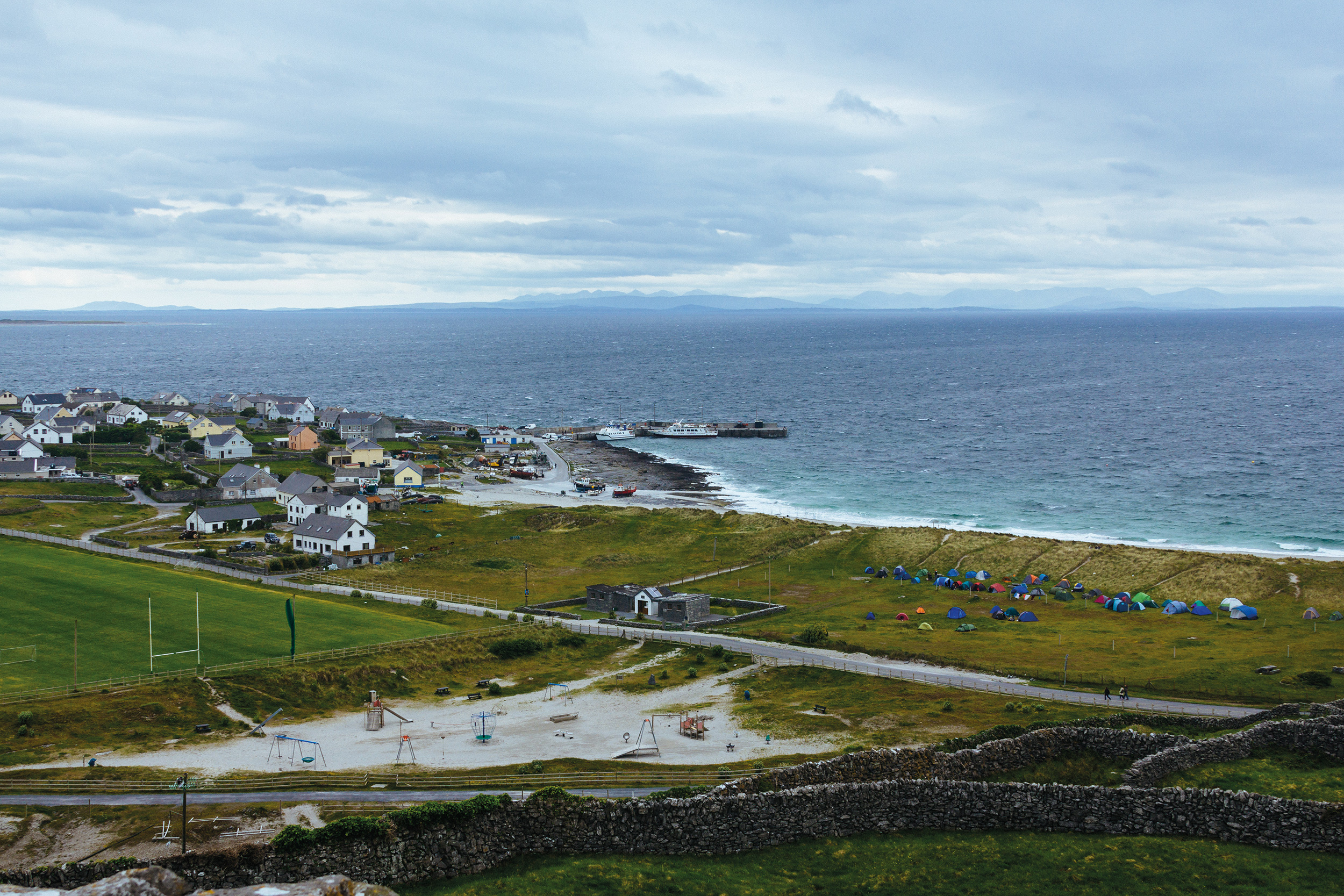 Photograph of Inis Oírr during DE14 by Conal Thomson