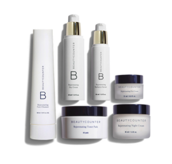 Rejuvenating Collection - $389 CAN -  SHOP   Rejuvenate skin and fight the signs of aging with all six products in our Rejuvenating line. Rejuvenating Face Cleanser removes makeup and other impurities while moisturizing, Rejuvenating Toner Pads tone skin and minimize the appearance of pores, Radiance Firming Serum improves hydration and reduces the appearance of wrinkles, Rejuvenating Day Cream softens and soothes while increasing elasticity, Rejuvenating Night Cream locks in moisture while you sleep, and Rejuvenating Eye Cream reduces puffiness and diminishes the appearance of fine lines and dark circles.