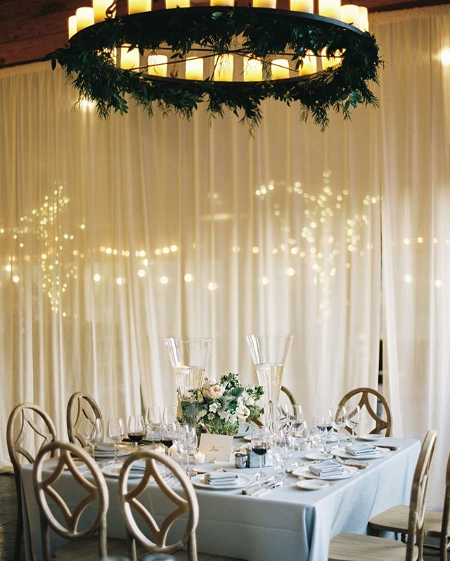 Room layout is too often overlooked.  Why do we spend the time to create perfectly to-scale, detailed floor plans?  So your guests can enjoy the elegant simplicity of a dining at a table placed just-so under a classically decorated chandelier.  If we are off by two feet, this serene scene does not exist. #detailsmatter #gathertogetherweddings 📷 @anagramphoto