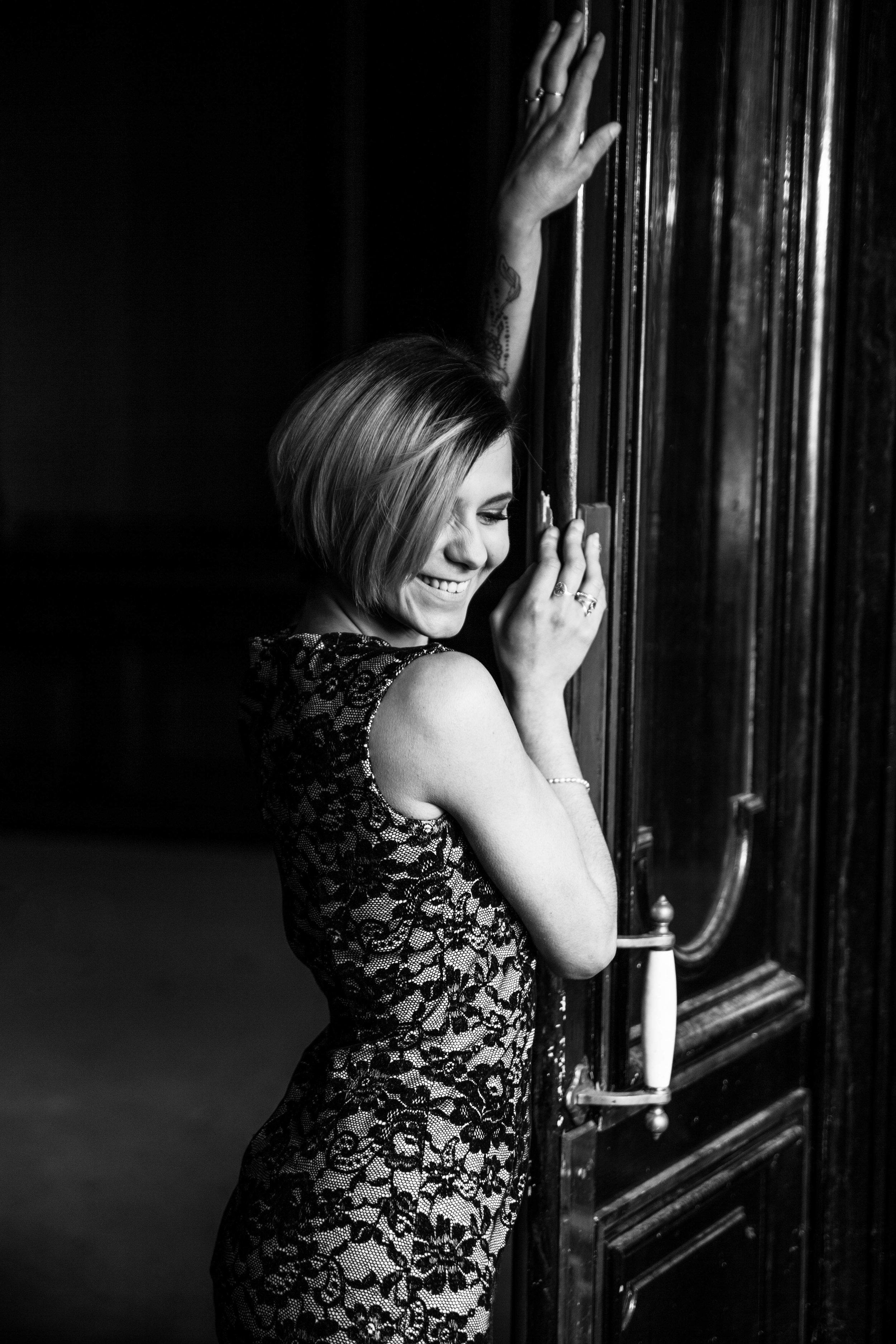 Photo glamour noir et blanc