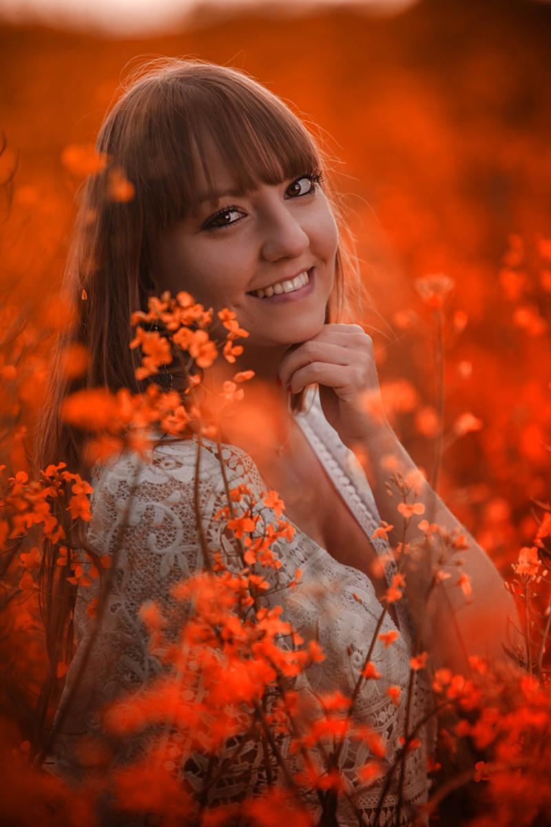 Portrait aux couleurs chaudes