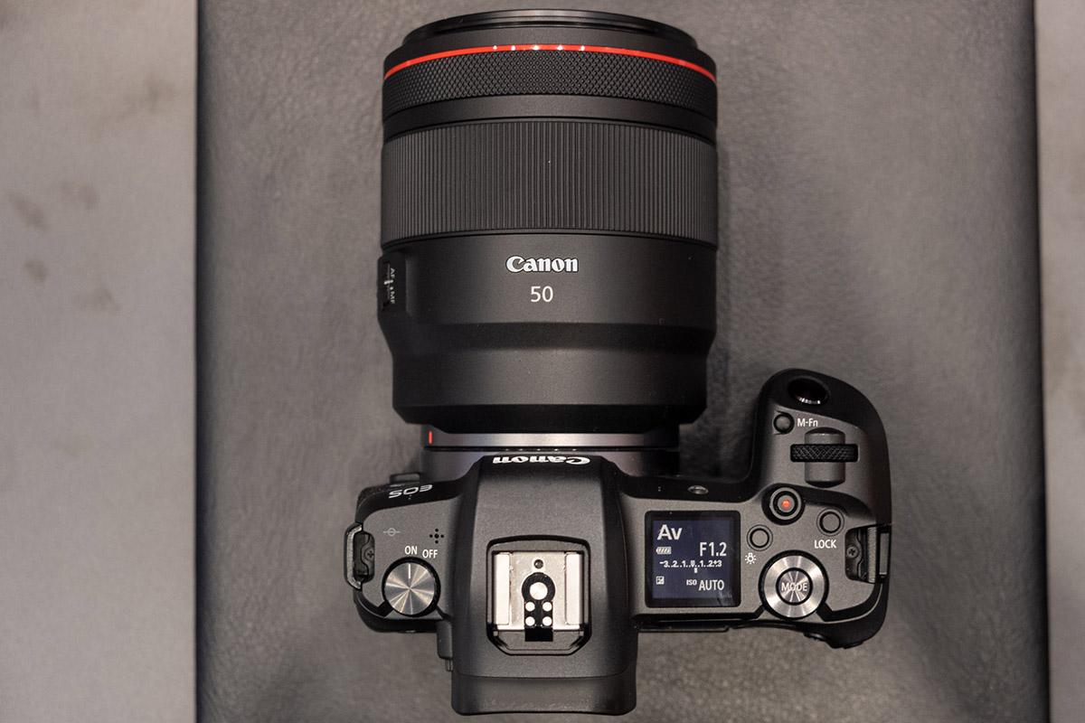 Le Canon EOS R avec son 50mm F1.2