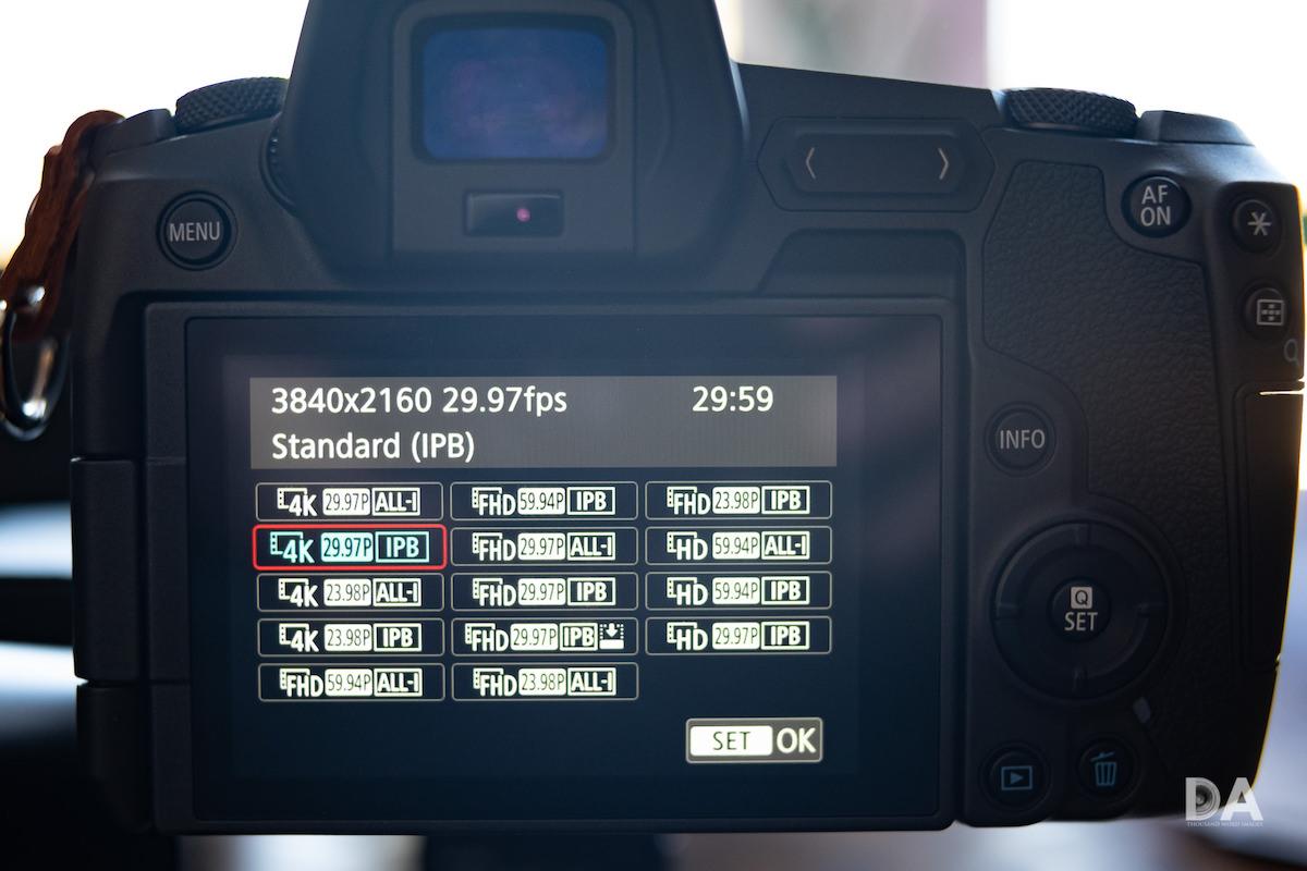 L'absence de 120FPS et d'un mode 4K sans crop font cruellement défaut à l'EOS R