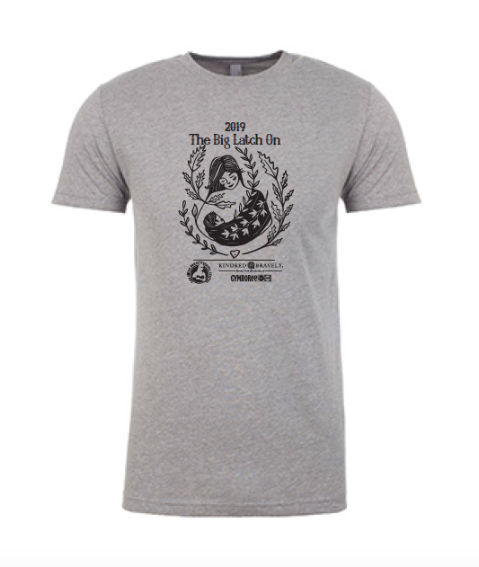 HEATHER GRAY LADIES CREW T-SHIRT - AVAILABLE IN S, M, L, XL, 2XL