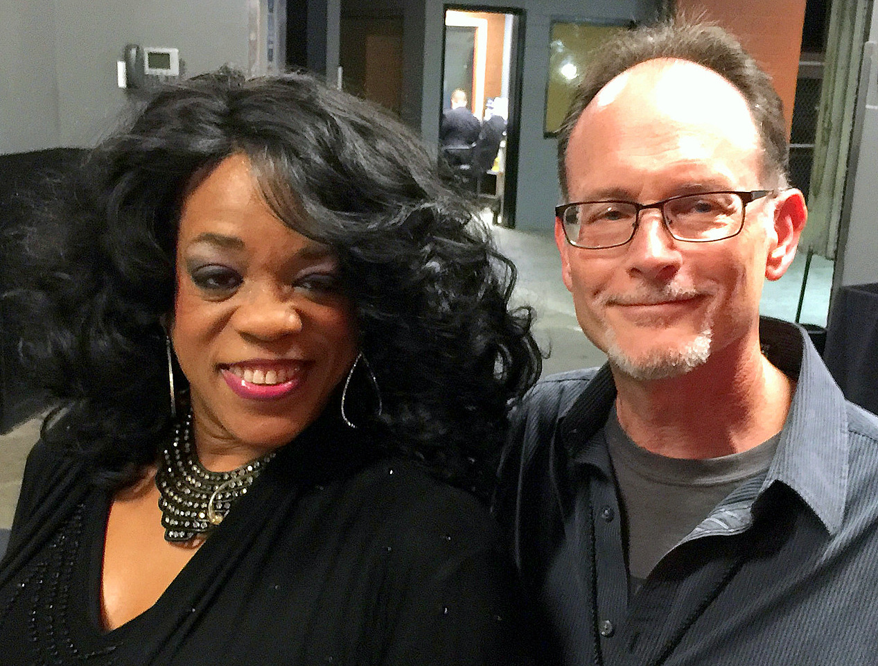 Andy Broady with Evelyn Champagne King
