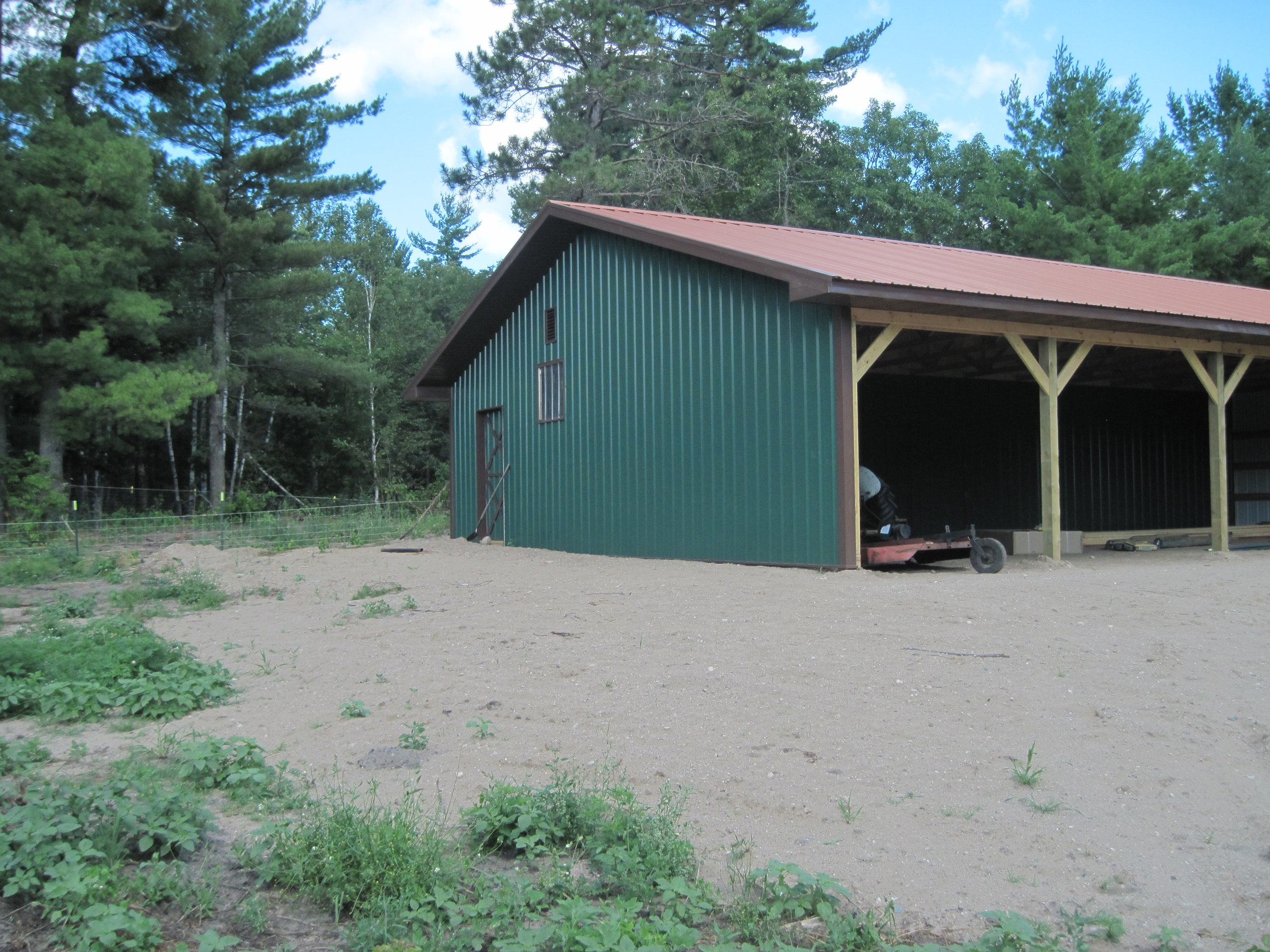 More plans and another shed, for a growing herd and hay storage.
