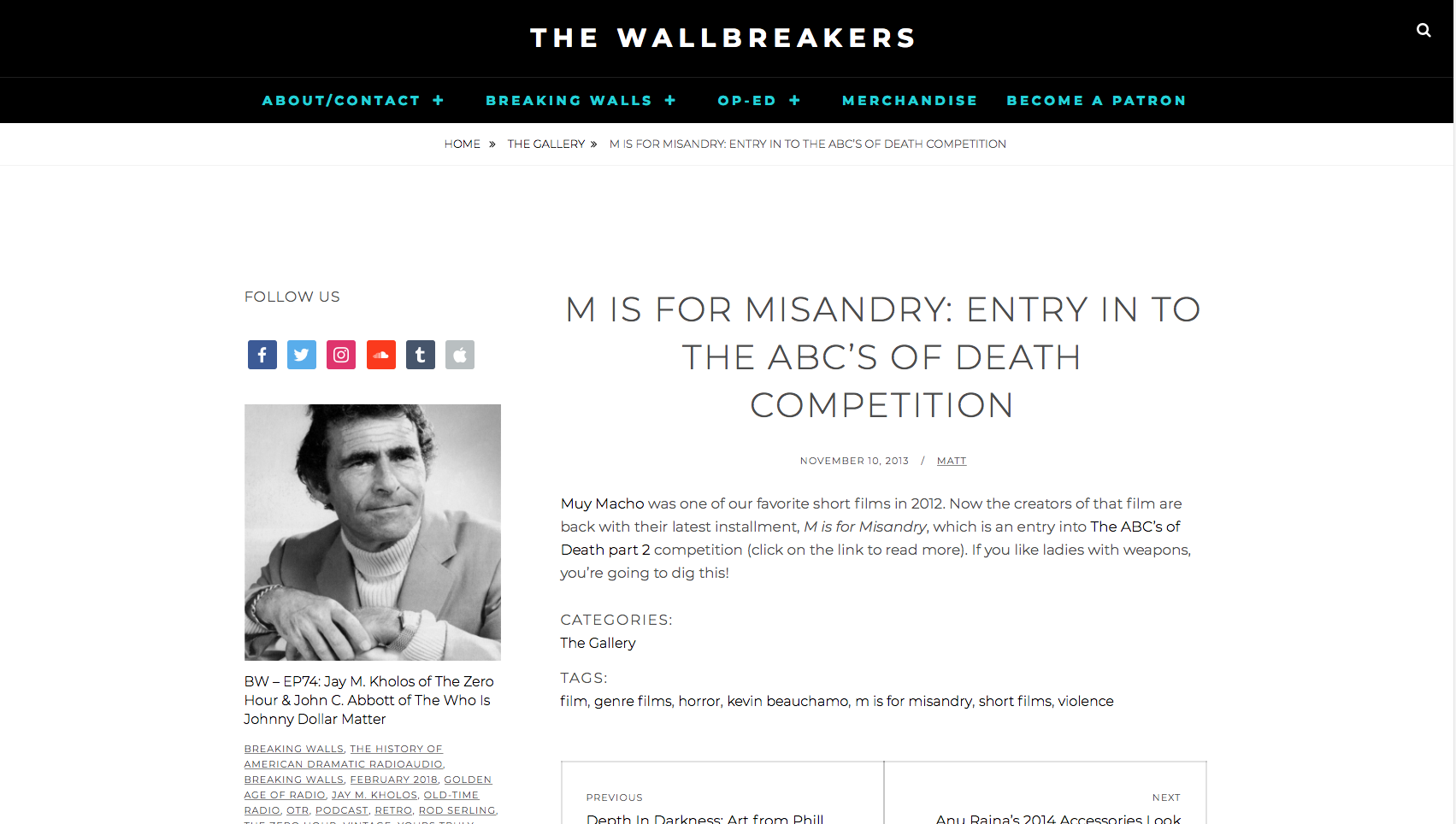 THE WALLBREAKERS.COM - M IS FOR MISANDRY